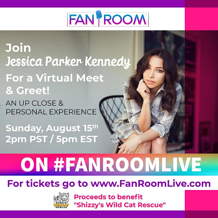 Jessica Parker Kennedy hosts FanRoom Live Sunday August 15th 2021! image