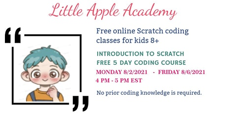 Free 5-day Online Scratch Coding Course for Kids tickets