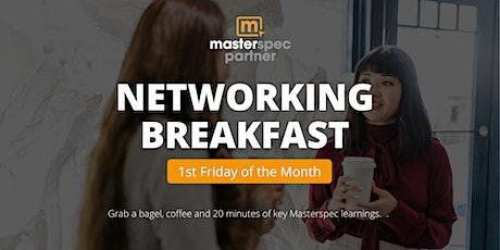 Masterspec Partner Networking Breakfast  | October 1st, 2021 tickets