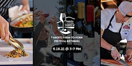 2021 Sample the Sierra Festival tickets