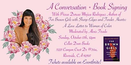Conversation + Book Signing with Prisca Dorcas Mojica Rodríguez tickets