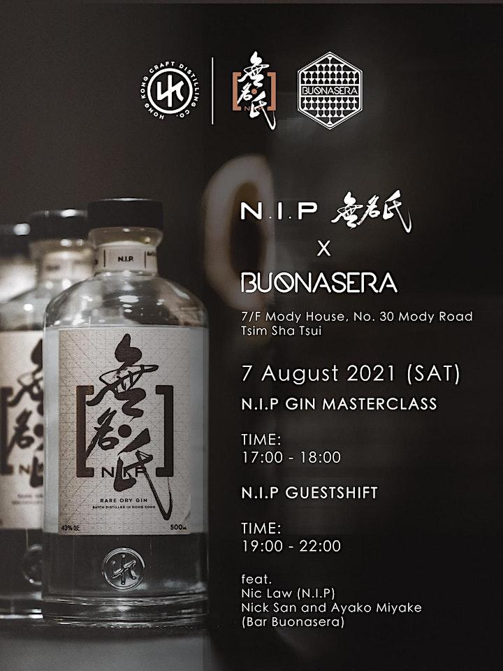 N.I.P 無名氏 Gin X Bar Buonasera Master Class image