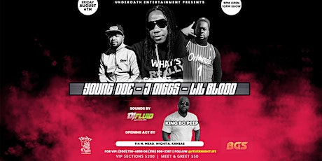 J Diggs | Lil Blood | Young Doe LIVE @ Fever Nightlife tickets