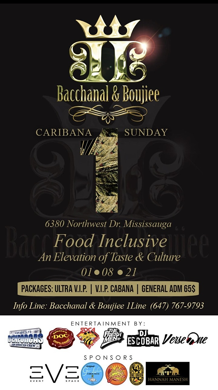 """Bacchanal & Boujiee : The """"1"""" Food Inclusive Experience image"""