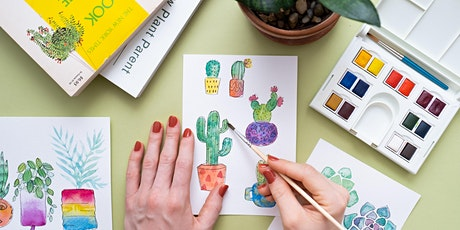 Cacti and Houseplant Illustration & Watercolor tickets
