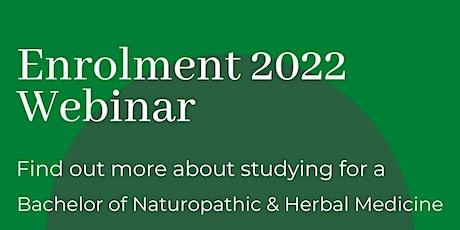 Enrolment 2022 Webinar ~ Wellpark College of Natural Therapies tickets