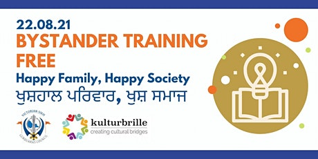 Happy Family, Happy Society Bystander Training tickets