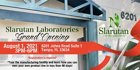 Slarutan Cosmetic Laboratory Grand Opening tickets