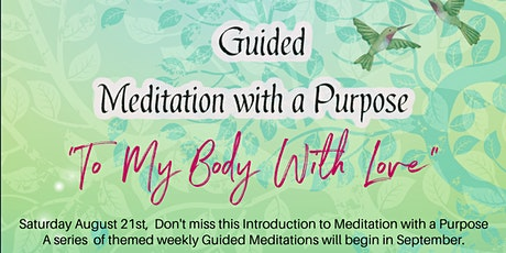 Meditation with a Purpose: September Series tickets