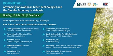 Multi-stakeholder Discussion on Green Tech and the Circular Economy tickets