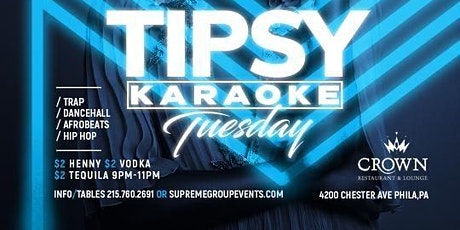 #TipsyTuesday at Crown Lounge July 27th 9pm-2am tickets