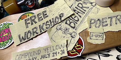 Big Air Poetry Skatebaord Design Workshop tickets