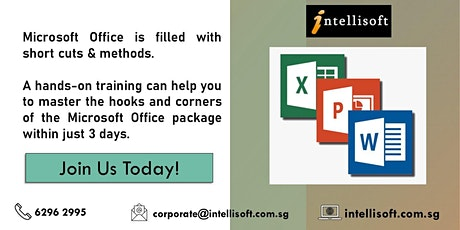 Microsoft Word, Excel, PowerPoint tickets