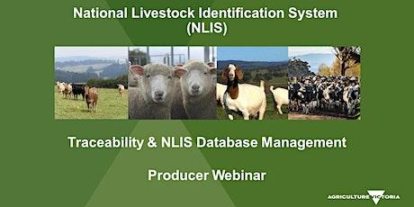 NLIS database  training interactive webinar - August 3rd tickets