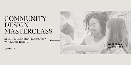 Community Design Masterclass tickets