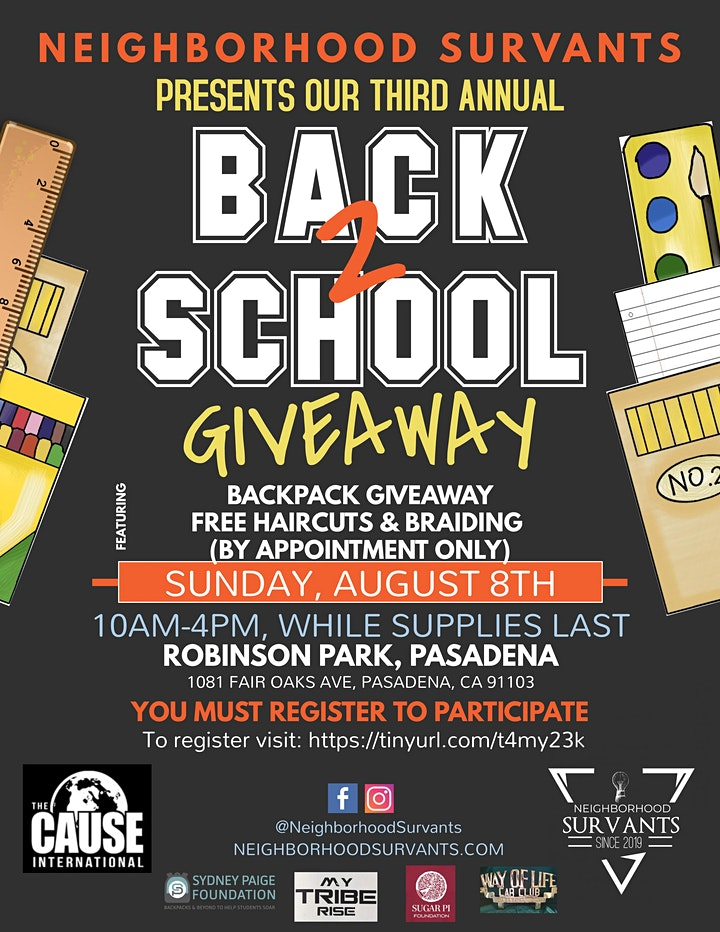 3rd Annual School Backpack Giveaway image