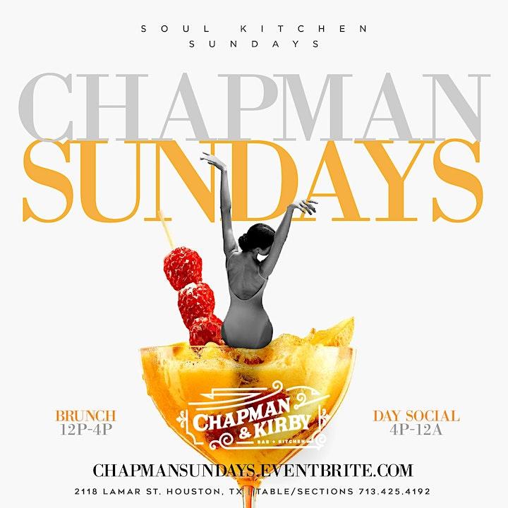 Chapman & Kirby Sundays: Brunch | Day & Evening Social 12pm-2am image