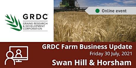 GRDC  Swan Hill & Horsham Farm Business Update Livestream tickets