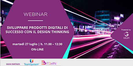 Sviluppare prodotti digitali di successo con il design thinking biglietti