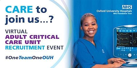 Adult Critical Care Unit  (ACCU) Virtual Recruitment Event tickets