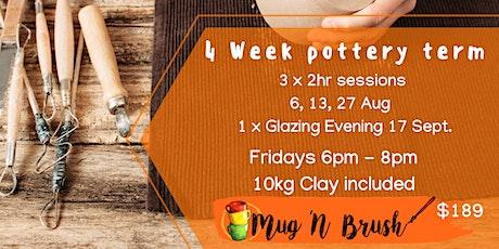4 Week Pottery Class tickets