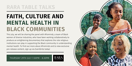 RARA Table Talks - Faith, Culture and Mental Health in Black Communities tickets