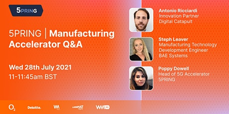 5PRING | Manufacturing Accelerator Q&A tickets