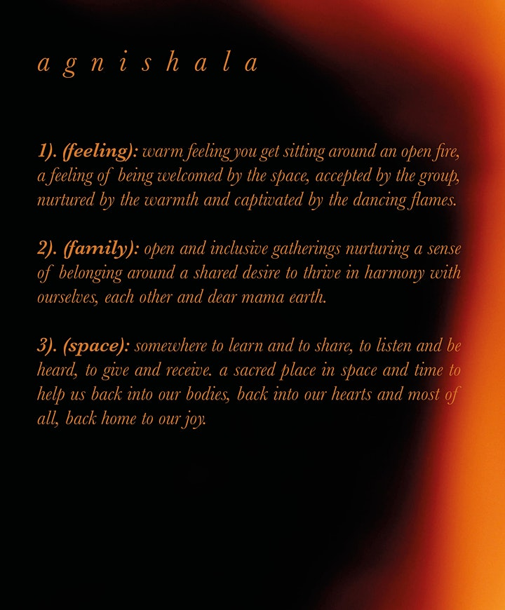a g n i s h a l a ...  CACAO ... ECSTATIC DANCE ... SOUND BATH ...  FIRE image