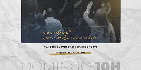 Culto de Celebração - 25/julho/2021 bilhetes