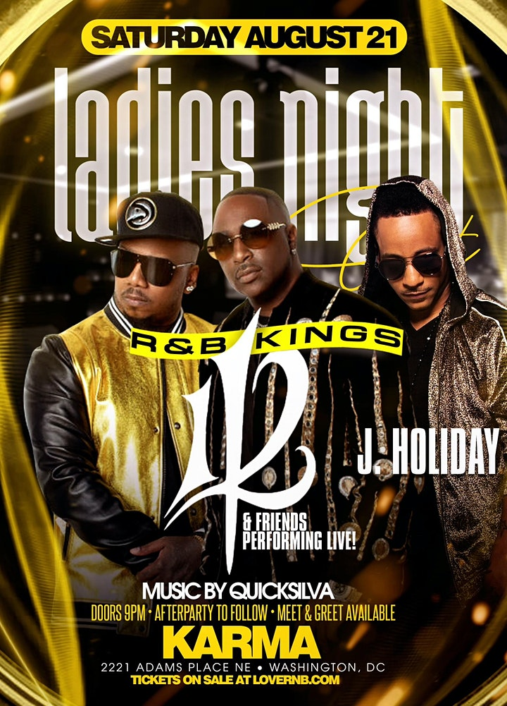 LADIES NIGHT OUT: 112 + J.HOLIDAY & FRIENDS! image