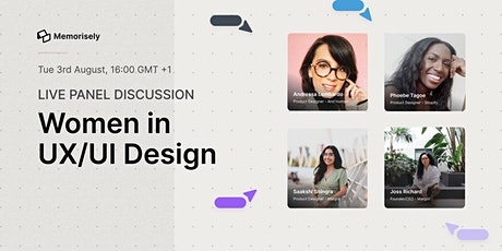 Live Panel Discussion: Women in UX/UI Design tickets