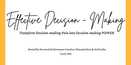Developing a Mindset for Effective Decision-Making tickets