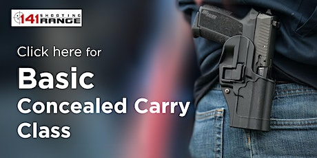 Basic Concealed Carry Permit Classes tickets