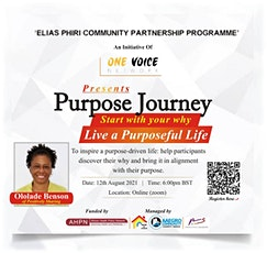 Purpose Journey: start with your Why tickets