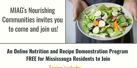 Free ONLINE healthy lifestyle and recipe program tickets