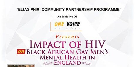 Impact of HIV on Black African Gay Men's Mental Health in England tickets