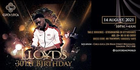 Lloyds 30th Birthday tickets