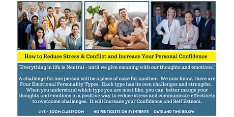 How to Reduce Stress and Conflict and Increase Your Personal Confidence tickets