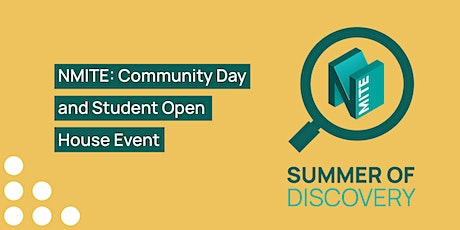 NMITE: Community Day and Student Open House Event tickets