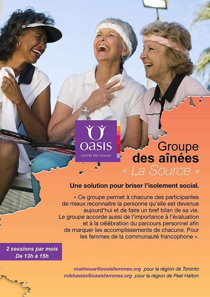 Image de « Groupe des aînées « La Source »