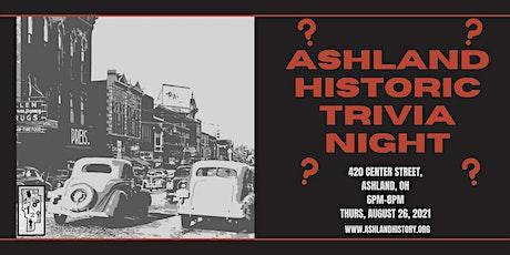 Ashland Historic Trivial Night tickets