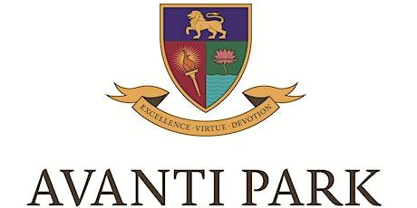 Avanti Park Virtual Open Evening tickets