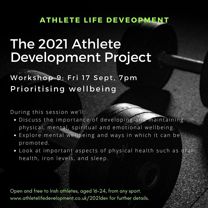 2021 Athlete Development Project Workshop 9 image