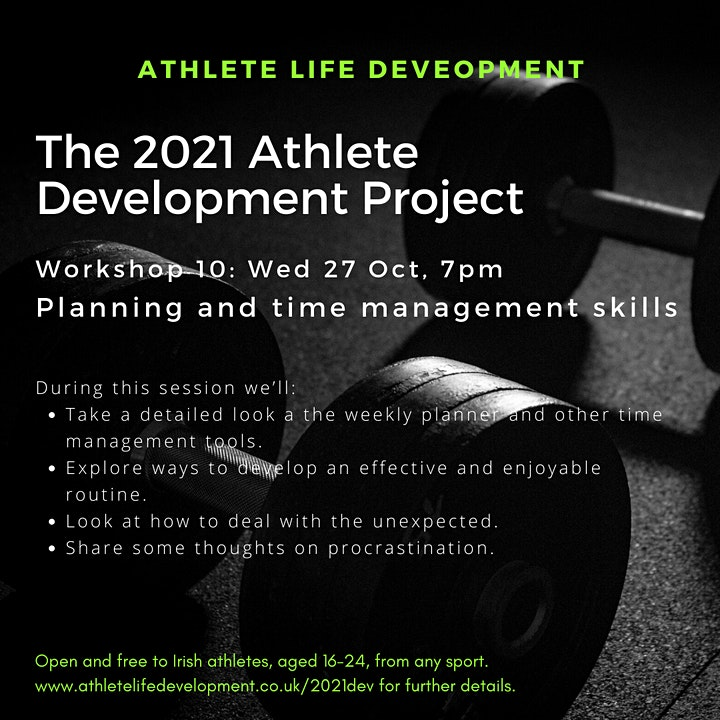2021 Athlete Development Project Workshop 10 image
