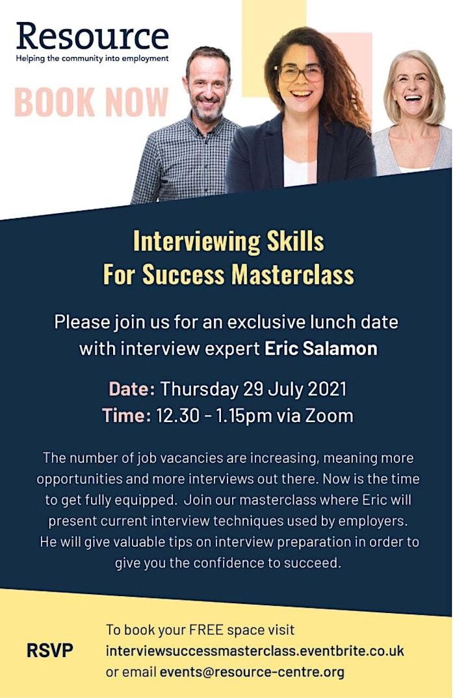 Interview Success Webinar image