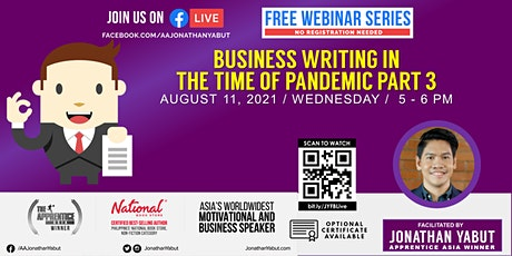 Business Writing in the Time of Pandemic, Part 3 tickets