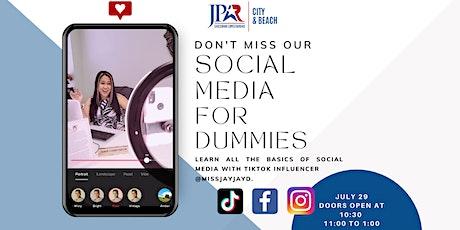 Social Media For Dummies tickets