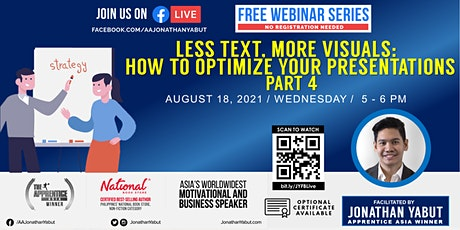 Less Text,  More Visuals: How to Optimize Your Presentations, Part 4 tickets