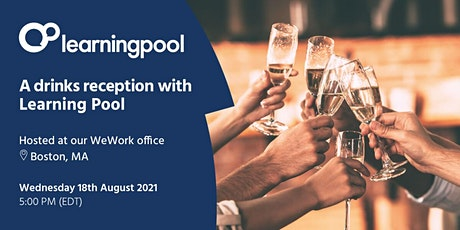 A drinks reception with Learning Pool tickets