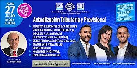 Actualización Tributaria y Previsional  2021 - Gratuito - Cupos limitados entradas
